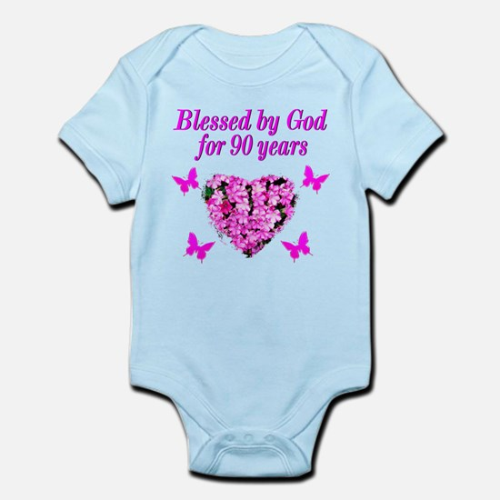 CHRISTIAN 90 YR OLD Infant Bodysuit