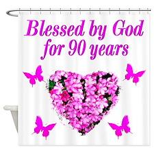 CHRISTIAN 90 YR OLD Shower Curtain