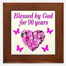 CHRISTIAN 90 YR OLD Framed Tile