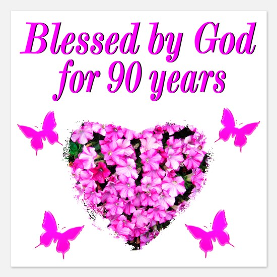 90Th Birthday Invitations for 90th Birthday – 90 Birthday Invitations