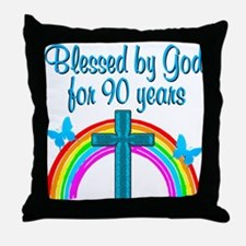CHRISTIAN 90 YR OLD Throw Pillow