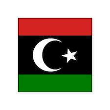 Square Libyan Flag Sticker