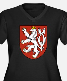 Coat of Arms Women's Plus Size V-Neck Dark T-Shirt