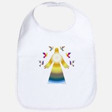 Jesus and Doves in Rainbow Colors Bib