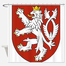 Coat of Arms czechoslovakia Shower Curtain
