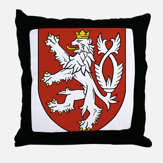 Coat of Arms czechoslovakia Throw Pillow