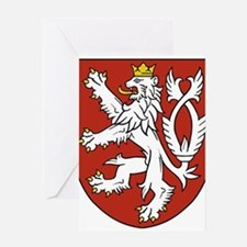 Coat of Arms czechoslovakia Greeting Cards