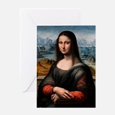 Mona Lisa - Prado (the first Mona Li Greeting Card