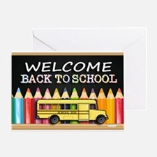 WELCOME BACK TO SCHOOL BUS Greeting Card
