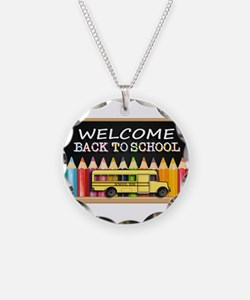WELCOME BACK TO SCHOOL BUS Necklace