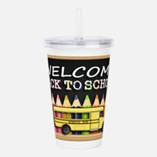 WELCOME BACK TO SCHOOL Acrylic Double-wall Tumbler