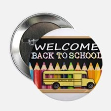 """WELCOME BACK TO SCHOOL BUS 2.25"""" Button (100 pack)"""