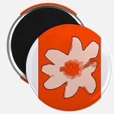 Orange Floral Flower Wilma's Fave Magnets