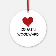 LOVE CRUSIN WOODWARD Ornament (Round)