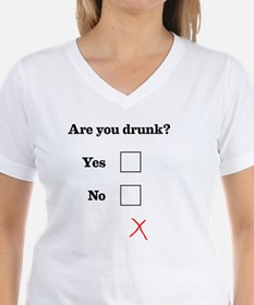 Are You Drunk Black Text Shirt