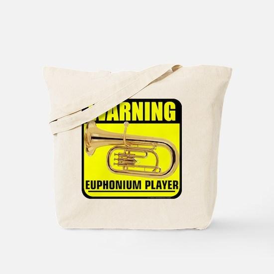 2-caution euphonium player.png Tote Bag