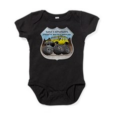 Unique Tire tread Baby Bodysuit