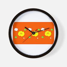 Mothers Day Orange Floral Karma Sheila' Wall Clock
