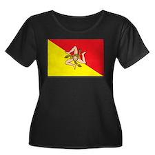 SICILIAN FLAG Plus Size T-Shirt
