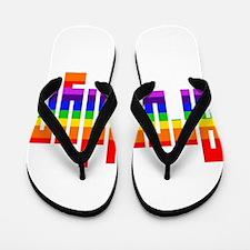 BK Rainbow Flip Flops