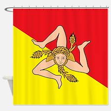SICILIAN FLAG Shower Curtain