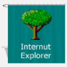 Internut Explorer Shower Curtain