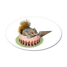 Squirrel Cutting Cake Wall Decal