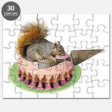 Squirrel Cutting Cake Puzzle