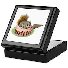 Squirrel Cutting Cake Keepsake Box