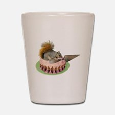 Squirrel Cutting Cake Shot Glass