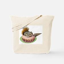Squirrel Cutting Cake Tote Bag