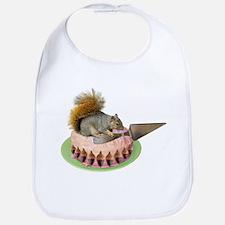 Squirrel Cutting Cake Bib