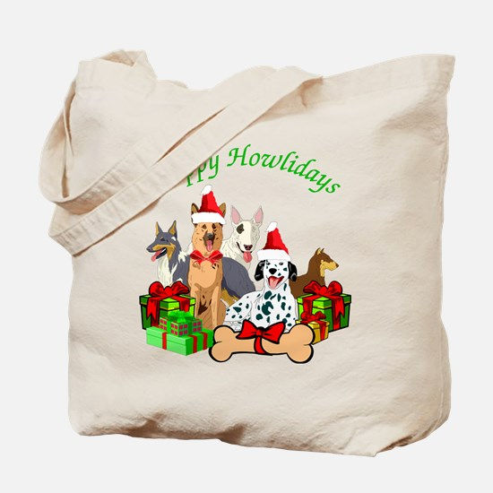 Howliday Dogs Tote Bag
