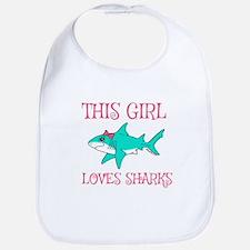 Shark Girl Bib