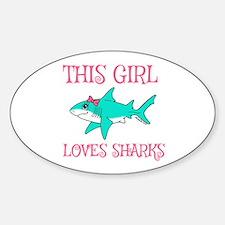 Shark Girl Decal