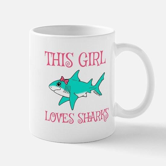 Shark Girl Mugs