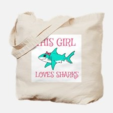 Shark Girl Tote Bag