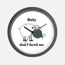Baby don't herd me Wall Clock