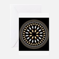 Hypnotic Circle Greeting Cards