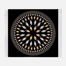 Hypnotic Circle Throw Blanket