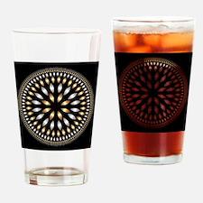 Hypnotic Circle Drinking Glass