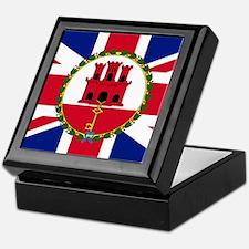 Gibraltar Governor Flag Keepsake Box