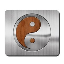 Wood Chrome Yang Mousepad