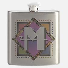 Cute Monogram m Flask