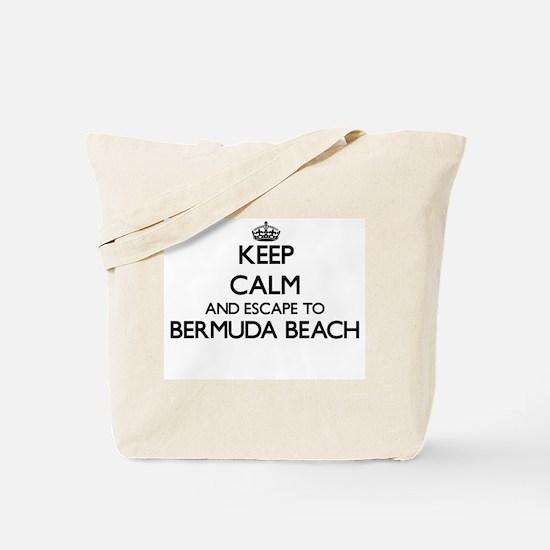Keep calm and escape to Bermuda Beach Tex Tote Bag