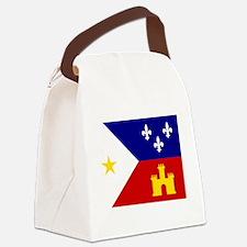 Acadiana Flag Louisiana Canvas Lunch Bag