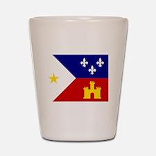Acadiana Flag Louisiana Shot Glass
