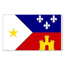 Acadiana Flag Louisiana Decal