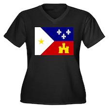 Acadiana Flag Louisiana Plus Size T-Shirt