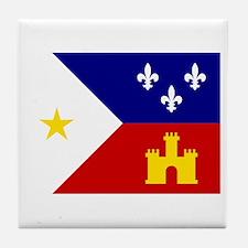 Acadiana Flag Louisiana Tile Coaster